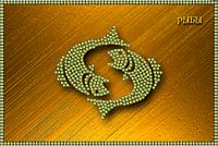 Схема для вышивки бисером Знаки зодиака. Рыбы КМР 5081