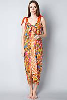 Женский сарафан-парео яркого цвета
