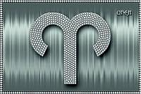 Схема для вышивки бисером Знаки зодиака. Овен серебро КМР 5071