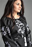 Вышиванка женская. Ткань – лен-габардин