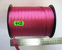 Лента репсовая двухсторонняя 10мм, цвет фуксия, Турция