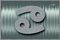 Схема для вышивки бисером Знаки зодиака. Рак серебро КМР 5089
