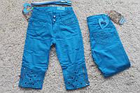 Котоновые бриджи для девочки Анет. Размер 6 - 14 лет. Разные цвета