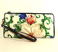 Кошелек- клатч кожаный на молнии Velina Fabbiano 0029 - 254