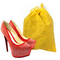 Мешок для обуви, чехол для обуви, желтый