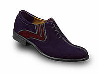 Мужские туфли синий замш