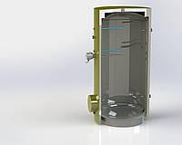 Бойлер косвенного нагрева из нержавеющей стали на 200 л без теплообменника