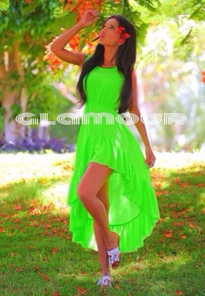 Платья в салатовом цвете