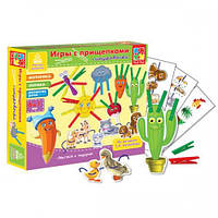 Детская игра с прищепками + шнуровка Солнышко Vladi Toys VT1604-02 (укр.)