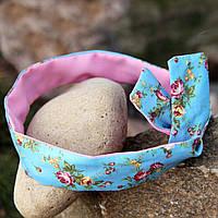 Двусторонняя повязка для волос с цветочным принтом