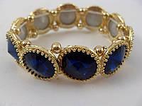 Браслет с синими камнями 012740