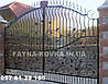 Кованные ворота 24800  (металл+поликарбонат или только металл)
