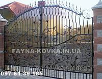 Кованные ворота 24800  (металл+поликарбонат или только металл), фото 1