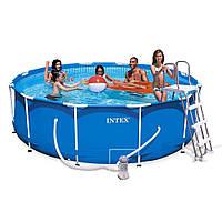 Каркасный бассейн сборный Intex 28218 Metal Frame Pool (366х99)
