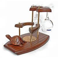 Мини-бар Черепаха с 2-мя бокалами и подставкой под бутылку