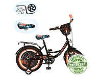 Велосипед детский 16д. GR 0003 GR, черно-оранжевый