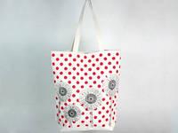Летняя сумка Цветы и горошек