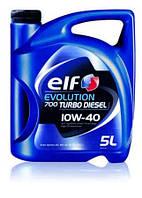 Моторное масло ELF 10W40 TURBO DIESEL EVOLUTION 700 (API CF/SL , ACEA B3/B4) 5L полусинтетика для дизеля