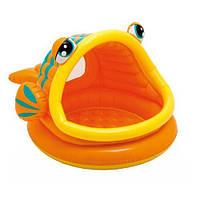 Intex 57109 (124-109-71 см.) Детский надувной бассейн с навесом