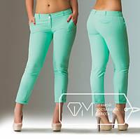 Брюки женские стильные летние батал бирюза  Арт-1716/41. Купить брюки больших размеров