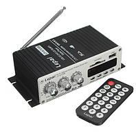 Автомобильный усилитель мощности звука стерео 12В  USB, SD, MMC, MP3, FM