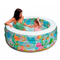 "Детский надувной бассейн+манеж+батут ""Аквариум"" Intex"
