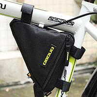 Велосипедная черная треугольная сумка под раму (велосумка подрамная)
