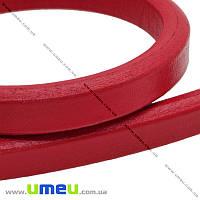 Основа для браслета Regaliz из нат. кожи, Красная, 10,3х6.3мм, 20 cм, 1 шт (OSN-006358)