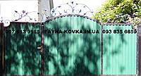 Ворота ковані закриті профнастілом 5370, фото 1