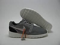 Кроссовки Мужские Nike Roshe Run серо-белые