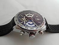 Механические часы TAG Heuer - Carrera Caliber 17 стальной корпус, каучуковый ремешок