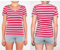 """Комплект спальный женский шорты и футболка с V-образным вырезом PM 05 р XS """"Ego """" 95% хлопок цвет розовый"""