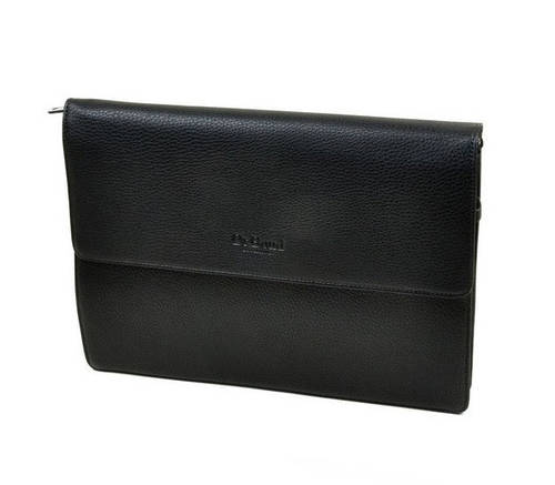 Мужская папка-сумка для документов из искусственной кожи  dr.Bond LH074 black черная