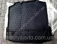 Коврик в багажник SKODA Rapid лифтбэк пластик+резина (Автогум AVTO-GUMM)