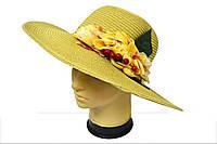 Женская широкополая шляпа с цветами