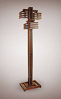 Торшер напольный деревянный 4х ламповый