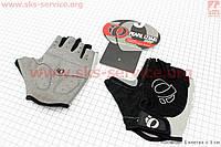 Велоперчатки без пальцев XL-черно-серые, с мягкими вставками под ладонь