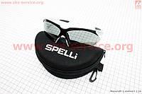 Велосипедные очки серые + набор для ухода, в чехле жестком SGL-943