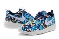 Nike Roshe Run Print [ Blue Floral ]мужские кроссовки / пальмовый принт