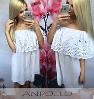 Легкое платье из хлопка (прошва) в 4 расцветках Dolia m-1703473