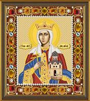 Набор для вышивания бисером(с камнями) икона Св. Мц. Людмила Чешская