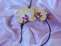 Обруч с цветами из шелка, ручной работы Орхидея
