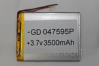 Литий-полимерный аккумулятор GP047595 (3580mAh) 4*95*75mm