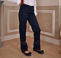 Брюки школьные синие Милана БД-03123 с вышивкой 30 (Р-116, ОГ-60, ОТ-54)