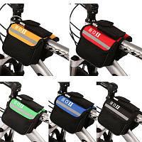 Велосипедная сумка на перед на раму велосипеда (велосумка нарамная)