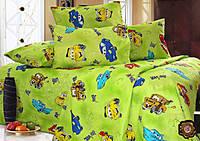 Детский комплект постельного белья в кроватку ( Тачки)