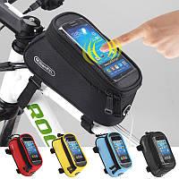 Велосипедная сумка на раму с чехлом для телефона (велосумка)