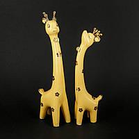 """Фарфоровые фигурки животных """"Жёлтые жирафы"""" для детей GRS3"""
