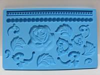 """Молд кондитерский силиконовый для мастики """"Розы"""", планшет"""
