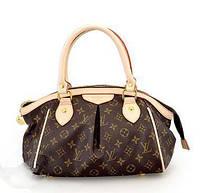 Изысканный аксессуар для женщин, сумочка LV, средних размеров, из прочной кожи PU, 1 отделение без перегородок